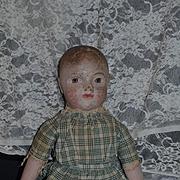 Antique Doll Philadelphia Baby Oil Cloth Wonderful Look W/ Provenance Sheppard Baby