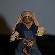Antique Doll Miniature Wax Nun in Original Clothing Dollhouse Unusual French Nun