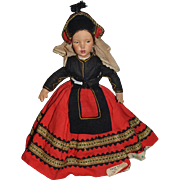 Old Doll Cloth Doll Topsy Turvy Unusual Original Clothing Costume