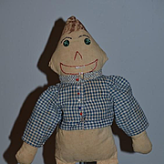 Old Doll Cloth Doll Rag Doll Unusual  Button Eyes Unusual