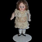 Antique Doll Miniature All Bisque Glass Eyes Dollhouse Wonderful