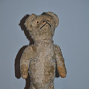 Old Mohair Bear Jointed Glass Eyes Teddy Bear For Doll