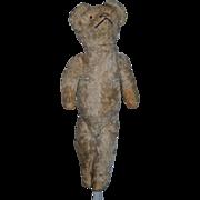 Old Mohair Bear Jointed Glass Eyes Teddy Bear For Doll