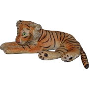 Old Huge Stuffed Mohair Tiger Steiff ?? Wonderful Laying 29""