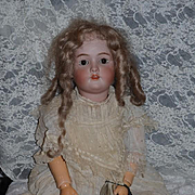 "Antique Doll Bisque Heinrich Handwerck  Beautiful 30"" Big Girl Dep"