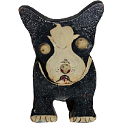Old Dog Wood Folk Art Signed Painted Features Allen Johnson