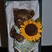 Vintage R. John Wright Bear Christopher Jointed Teddy Bear Mint in Box WONDERFUL Limited Edition