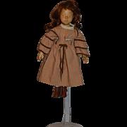 Vintage Doll Wood Carved Artist Doll