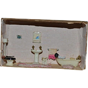 Vintage Doll Diorama W/ Frozen Charlotte Bathroom Set TOO CUTE!