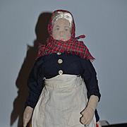 Vintage Doll Cloth Doll K. Fairbanks Katharine Fairbanks Signed Unusual