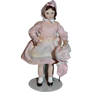 Doll Miniature Dollhouse Doll W/ Parasol Artist Doll