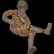 Antique Doll Creche Terra Cotta Religious Icon