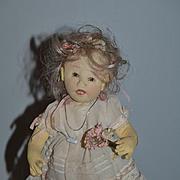Vintage Artist Doll Kathi Clarke Cloth Doll W/ Original Tags!