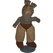 Old Cloth Rabbit Bunny Adorable Doll Friend Stuffed Animal