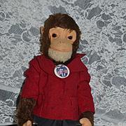 Old Schuco Monkey Mohair YES NO Mechanical Adorable