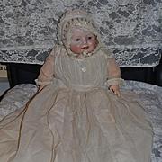 Antique Georgene Averill Bisque Doll Bonnie Babe Dresssed! Baby Doll