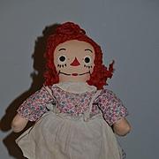 Wonderful Old Raggedy Ann Cloth Doll Johnny Gruelle's Georgene Novelties, Inc. W/ Tag