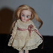 Old Doll Miniature All Bisque Swivel Neck Dollhouse Sweet Different Look Simon & Halbig ?