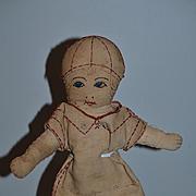 Old Doll Unusual Cloth Doll Rag Doll Folk Art