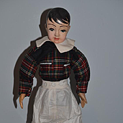 """Wonderful Doll American Carved Wood Straw Filled 22"""" Character Boy W/ Pic & Information"""