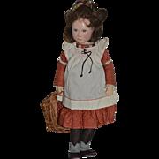 WONDERFUL Doll Elizabeth Barter Artist Painted Cloth Doll WONDERFUL One of A Kind