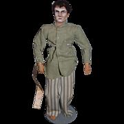 Vintage Doll Mary Green Artist Doll Original Clothing Richard Barthelmess in Tol'eable David 1921 Actor Cloth Doll