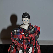 Old Doll Wood Carved Pegged Grodnertal Jointed Painted Carved Features