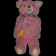 Old Teddy Bear Pink ERLE PLUSCHSPIELWAREN  w/ Old Teddy Bear Tag Jointed