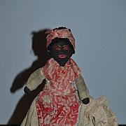 Wonderful Old Black Cloth Doll Rag Doll Unusual Wonderful Clothing