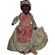 Wonderful Old Black Cloth Doll Rag Doll Unusual Wonderful Clothing