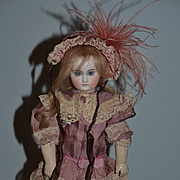 Antique Doll Bisque Cabinet Size Belton French Market Straight Wrist GORGEOUS