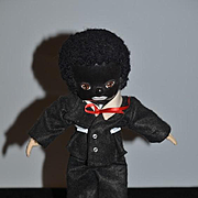 Vintage Doll Black Doll Golliwog Artist Doll Oil Cloth Character
