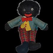 Old Doll Black Cloth Doll Golliwog Unusual