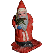 Vintage Doll Santa Claus Miniature Dollhouse Unusual TINY