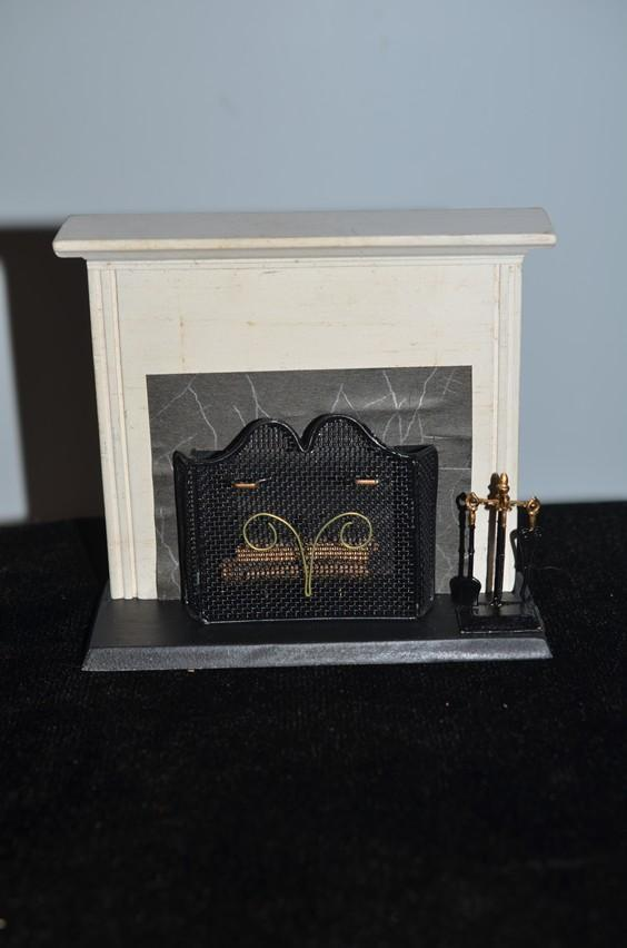 Vintage Doll Miniature Fireplace W Wood Gate And Accessories From Oldeclectics On Ruby Lane