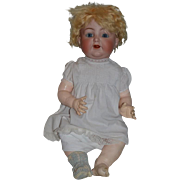 """Antique Doll Bisque Baby Wobble Tongue Kammer & Reinhardt Simon and Halbig 26"""" TALL BIG"""