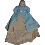 Old Doll Grace S. Putnam All Bisque Doll Miniature Dollhouse Dressed