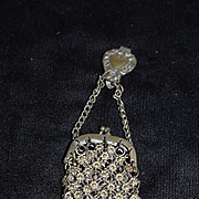 Old Doll Purse Miniature Chatelaine and Purse Wonderful French Fashion Size