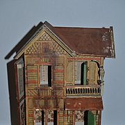 Old Doll Gottschalk Dollhouse Miniature Litho & Wood