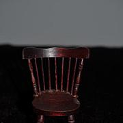 Wonderful Doll Old Windsor Back Wood Chair Miniature Dollhouse