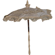Wonderful Doll Size Silk and Lace Parasol Umbrella Ornate