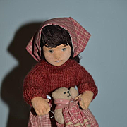 Vintage Doll Artist Doll Cloth Doll Felt Doll Harriet Shoup Jointed