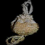 Old Doll Miniature Beaded Purse Crochet