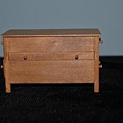 Vintage Doll Miniature Bill Haskell Wood Unusual Chest Dollhouse