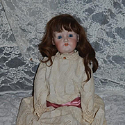 "Antique Doll Bisque Head Kestner 214 Sweet! 24"" Tall"