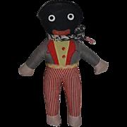 Old Doll Golliwog Black Cloth Doll Rag Doll