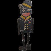 Old Wood Shufflin Sam Dancing Black Doll