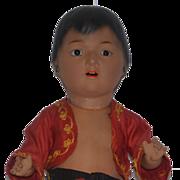 Antique Doll Heubach Koppelsdorf Wonderful Glass Eyes Bisque Island Boy