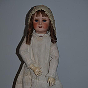 "Antique Doll French Bisque Unis Gorgeous HUGE 30 1/2"" Tall Dressed"