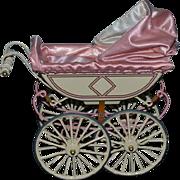 Vintage Marklin UFDC Pram Carriage Buggy Miniature Metal